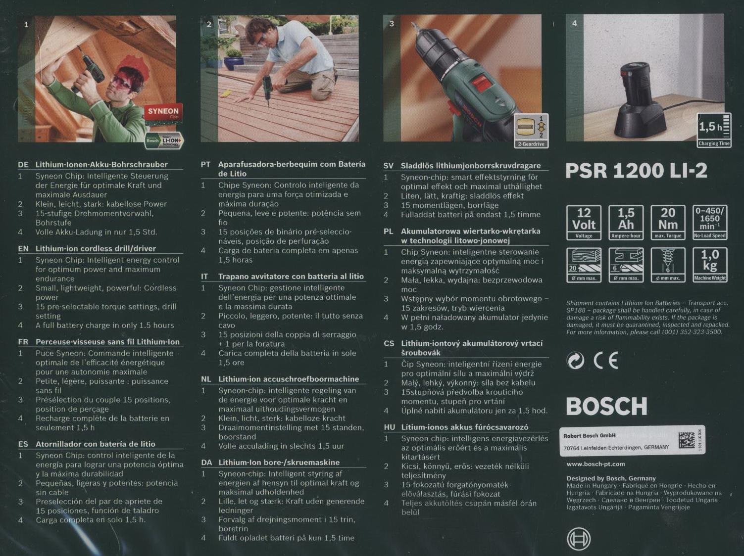 Bosch akku bohrschrauber psr 1200 li 2 inkl akku und ladeger t ebay - Bosch psr 1200 li 2 ...